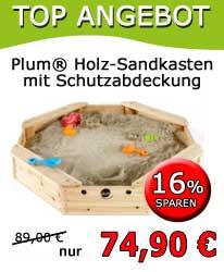 Plum® Sandkasten mit Schutzabdeckung