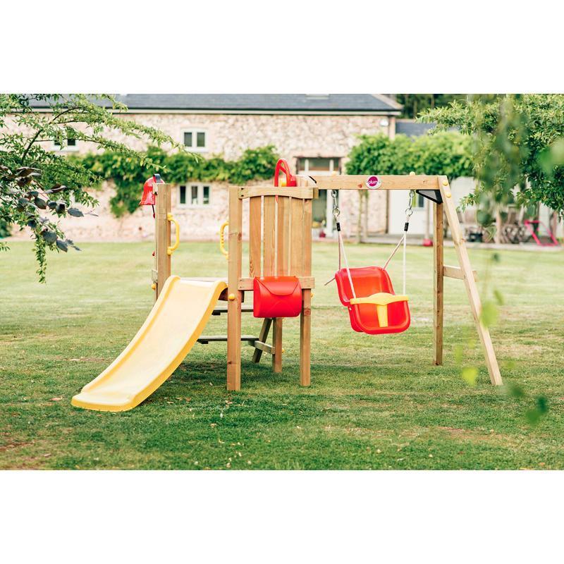 plum kleinkinder turm mit babyschaukel 27552 bei outdoor4kids. Black Bedroom Furniture Sets. Home Design Ideas