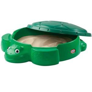 LITTLE TIKES Schildkröten Sandkasten mit Deckel 173905E3