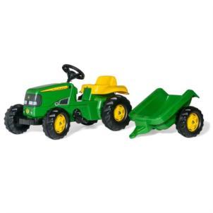 ROLLY TOYS rollyKid John Deere Traktor + Anhänger grün 012190