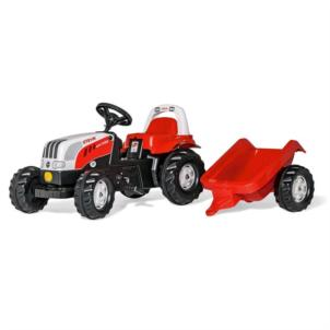 ROLLY TOYS rollyKid Steyr CVT Traktor + Anhänger rot 012510
