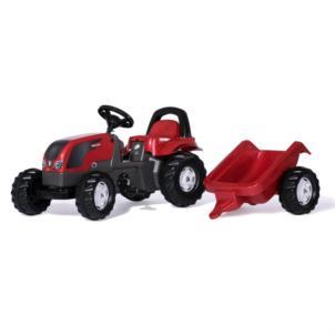 ROLLY TOYS RollyKid Valtra mit Anhänger und Überrollbügel 012527