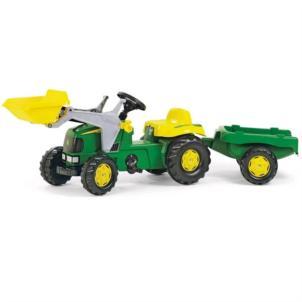 ROLLY TOYS rollyKid John Deere + Lader + Anhänger grün 23110