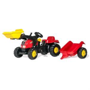 ROLLY TOYS rollyKid-X Traktor mit Lader und Anhänger rot 23127