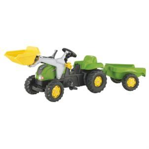 ROLLY TOYS rollyKid-X Traktor + Frontlader + Anhänger grün 23134