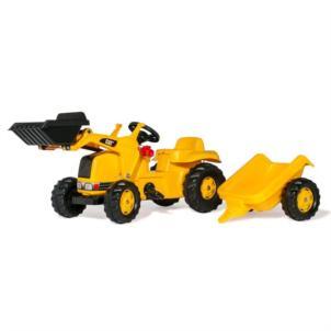 ROLLY TOYS rollyKid CAT Traktor + Frontlader + Anhänger gelb 23288