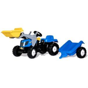ROLLY TOYS rollyKid New Holland Traktor + Lader +Anhänger blau 23929