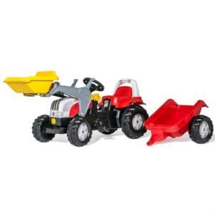 ROLLY TOYS rollyKid Steyr 6165 CVT Traktor + Lader +Anhänger 23936