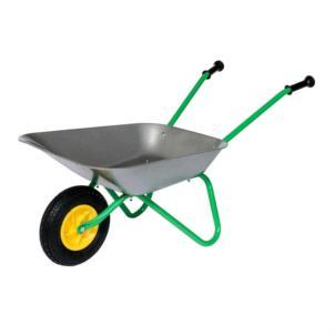 ROLLY TOYS rollyMetallschubkarre Air Tyre grau/grün 271757