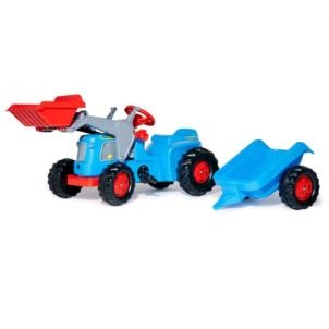 ROLLY TOYS rollyKiddy Classic inkl. Frontlader & Anhänger blau 630042