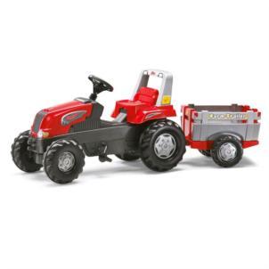 ROLLY TOYS Traktor rollyJunior RT inkl. Überrollbügel + Anhänger rot 800261