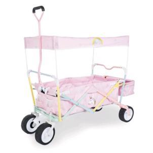 Pinolino Klappbollerwagen Einhorn mit Bremse rosa 238000