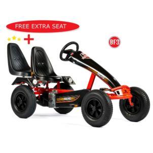 Dino Cars Gokart Super Sport BF3 schwarz/rot 66.710 + gratis Soziussitz 0307