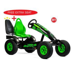 Dino Cars Gokart Trophy BF1 schwarz/ grün 57.260BF1 + gratis Soziussitz 0307