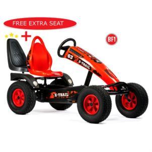 Dino Cars Gokart X-Trail BF1 schwarz/ rot 57.270BF1 + gratis Soziussitz 0307