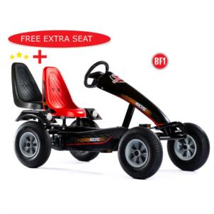 DINO CARS Gokart Super Sport BF1 schwarz 57.610BF1 + gratis Soziussitz 0307