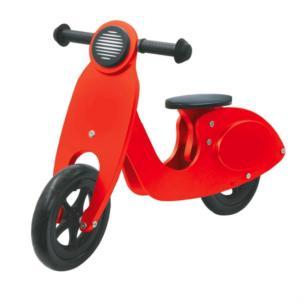 JAMARA Laufrad Holz Roller rot 460229