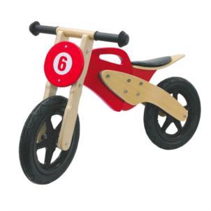 JAMARA Laufrad Holz Moto rot 460231