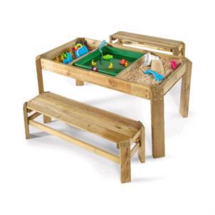 Plum® Spieltisch mit Bänken aus Holz 25503