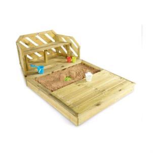 Plum® Sandkasten und Bank aus Holz 25500