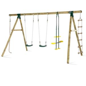 Plum® Orang-Utan Holz Schaukel- und Kletterset 27016