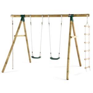 Plum® Gibbon Holz Schaukel- und Kletterset 27012