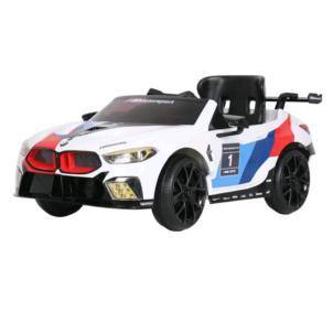 ROLLPLAY BMW M8 GTE Racing 12V RC weiß 32802
