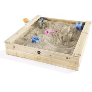 Plum quadratischer Kinder Holz Sandkasten mit Sitzbänken 25055