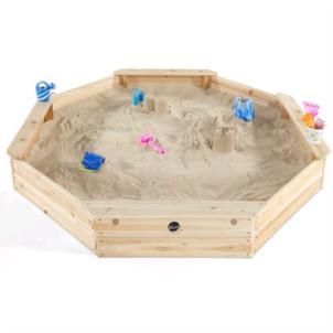 Plum® gigantischer Kinder Sandkasten aus Holz mit Sitzbänken und Schutzhülle 25058
