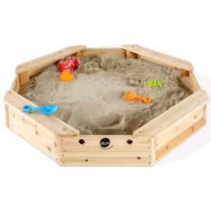 Plum Sandkasten für Kinder Schatzinsel aus Holz mit Schutzabdeckung 25067