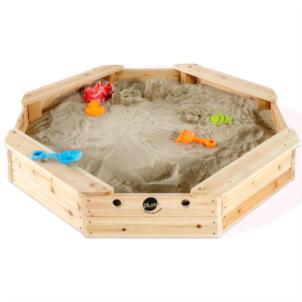 Plum® Sandkasten für Kinder Schatzinsel aus Holz mit Schutzabdeckung 25067