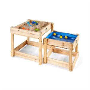 Plum® Sandy Bay Sand- und Wassertisch Holz 2er Set 25074