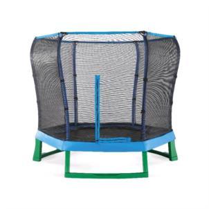 Plum® Junior Jumper Springsafe Trampolin mit Sicherheitsnetz Ø213cm blau/grün 30198