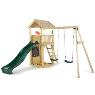 Plum® Holz Aussichtsturm mit Doppelschaukel 27551