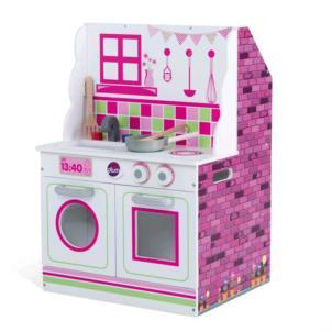 Plum® 2-in-1 Puppenhaus und Spielküche aus Holz 41070