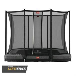 BERG Ultim Favorit Inground 280 (280x190cm) grau + Sicherheitsnetz Comfort 32.23.62.30