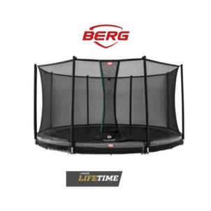 BERG Favorit InGround Ø 270 Grey + Sicherheitsnetz Comfort 35.09.23.00
