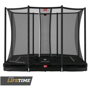 BERG Ultim Favorit InGround 280 (280x190) Black + Sicherheitsnetz Comfort 32.23.62.41