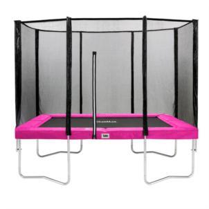 Salta Trampolin Combo mit Sicherheitsnetz 153x214cm pink 588P